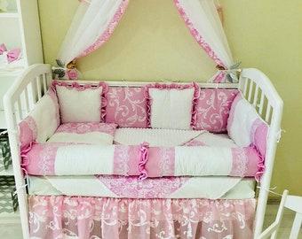 Custom Baby Bedding Crib bedding set Crib Bedding Bedding Sets Crib Set Crib Bumper Baby Bumper Pads Baby Bumper Bed Canopy Baby Canopy