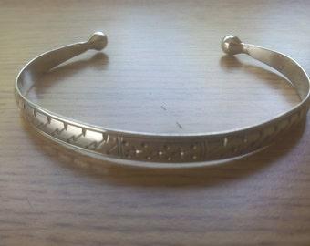 Tribal Silver Cuff Bracelet