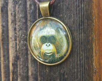 Orangutan Pendant Necklace