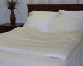 Organic Cotton Sheet Set - 500 TC - Available in 2 colors - White and Natural