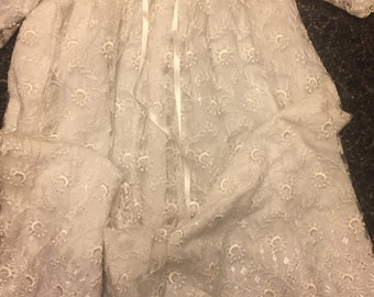 Authentic Vintage Pure White Christening Gown