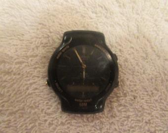 Rare...vintage men Casio watch  dual time...