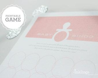 Printable Baby Bingo // Choose your color