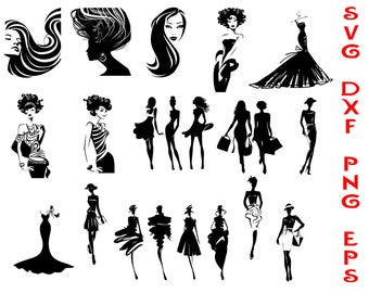 fashion svg, people svg, silhouettes svg, silhouettes people, women silhouettes, svg clipart, stickers, pictures t-shirts, girls svg, png