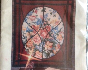 Through the Garden Window Quilt Wallhanging Pattern