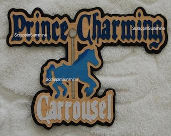 DISNEY Prince Charming Carrousel Die Cut Title Scrapbook Paper Piece - SSFF