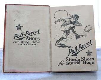 Poll Parrot Shoes Webster's Dictionary Vintage 1926 Book