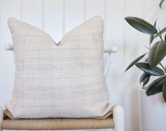 18X18 Grey Kilim Pillow Cover, farmhouse Plaid Pillow, Turkish Rug Vintage, White Plaid Case, Decorative Pillow