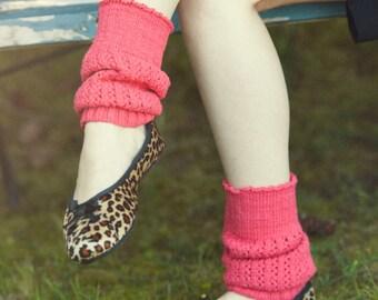 READY TO SHIP Bamboo Handknit Leg Warmer