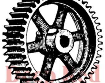 Deep Red Rubber Stamp Heavy Gear