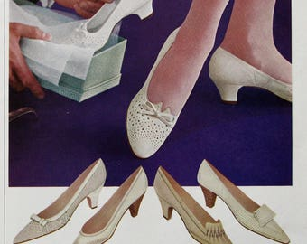 1963 Red Cross Shoes Ad - Retro 1960s Shoe Styles - Vintage Footwear Ads