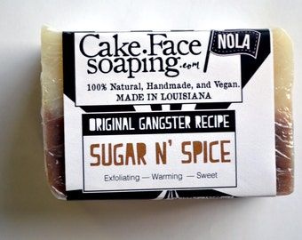 Sugar and Spice soap bar for exfoliating and nourishing with vitamin E natural soap bar