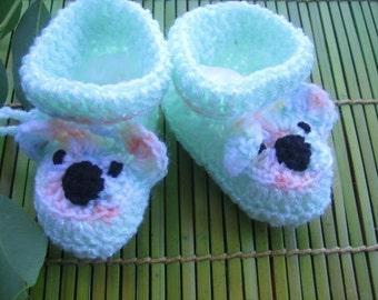 Koala Booties for little Tootsies (cutesy crochet pattern)