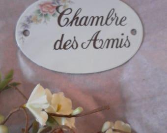 Enamelware Lcv door plaque