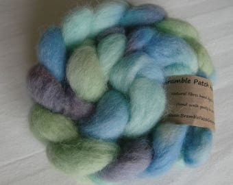 Hand Dyed Shetland Combed Top for Spinning or Felting 100g