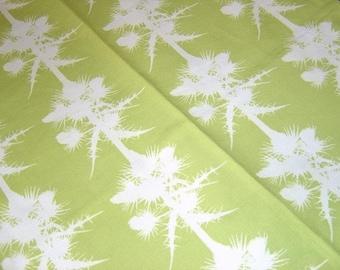 LAST ONE: Thistles Cotton Tea Towel - Apple Green - Botanical Paper Cut Design