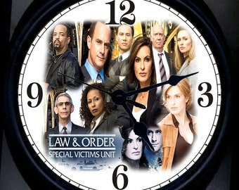 Law and Order SVU Wall Clock