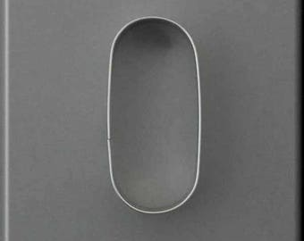 """4"""" Oval Pill Tablet Metal Cookie Cutter #NA9179"""