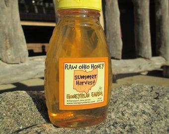 Pure Raw Summer Honey - 8 ounce jar