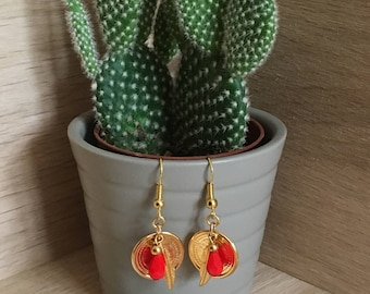 """Golden earrings """"Lon"""""""