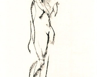 Gesture study 289 Original drawing  8 x 10 inches