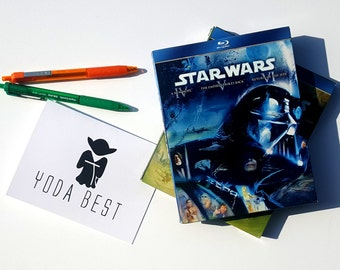 Yoda Best Thank You Single Card with Matching Envelope