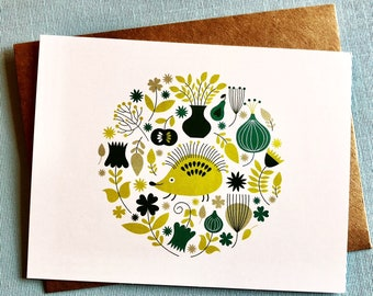 Hedgehog Flat Notecard Set
