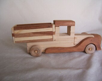 Toy Work Truck for the Kids, Handcrafted from  Recycled Wood