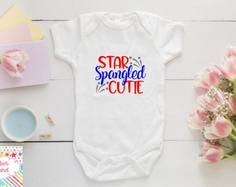 4th of July Onesies® , independence day boysuit , Baby girl Onesies®