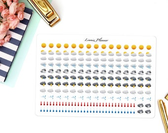 Weather stickers (Matte planner stickers, perfect for planners)