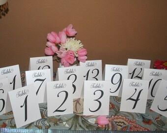 Wedding Table Numbers, Rustic Table Numbers, Kraft Table Numbers, Wedding Table Decor, Folded Table Numbers, Wedding Seating, Table Numbers