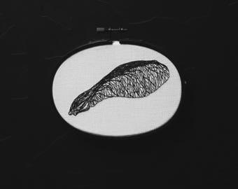 samara or maple seed / samare érable - hand embroidery