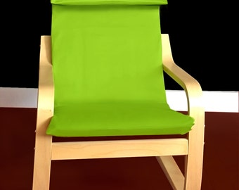 ON SALE Ikea KIDS Poang Cushion Slipcover - Solid Apple Green, Ready to Ship