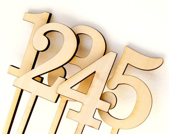 Wedding table number, wooden table numbers, rustic weding table numbers, unfinished wood numbers, diy wedding table decoration