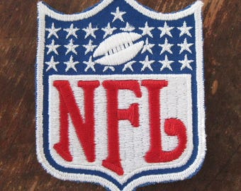 NFL FOOTBALL sew on patch large 3 x 4 inch Jacket patch New Old stock Vintage football patch