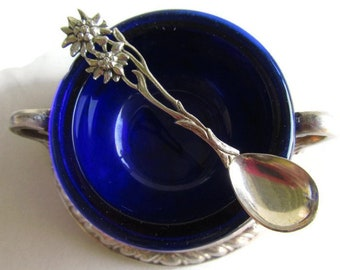 Spoon; Antique Spoon, German Spoon, Miniature Spoon, Salt Dip Spoon, Salt Cellar Spoon, Silver Spoon, 800/1000 Silver