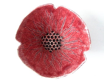 Poppy flower bowl