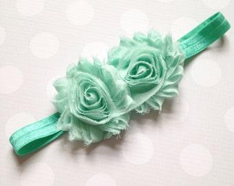 Mint Rose Headband