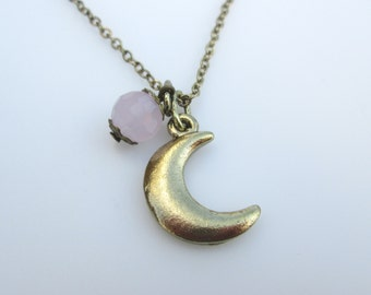 Goodnight Moon Crescent Necklace