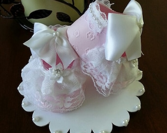 Shoe Cake Topper /Baby Shower Cake Topper / Baby Cake Topper
