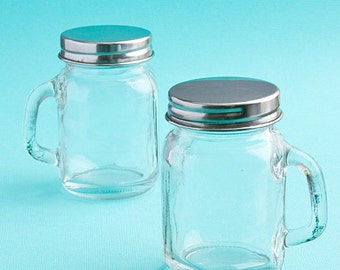 Mini Glass Mason Jar with Handle