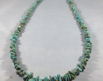Carico Lake Turquoise Nugget Necklace