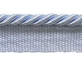 "Small 3/16"" Light Blue, Basic Trim Lip Cord, Sold by The Yard , Style# 0316s Color Artic Blue - N14"