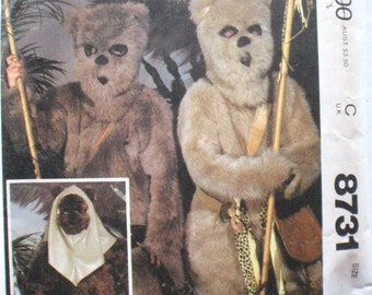 McCall's 8731 - Star Wars Wicket The Ewok - Child's Costume Pattern - Size XS (4-6), Chest 23 - 25