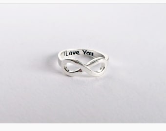 Infinity Ring SILVER, Infinity, Infinity, Eternity ring in silver
