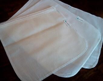 Produce Bags - Reusable Vegetable Bag, Grocery Bag, Shopping Bag, Farmers Market, Three Bags - S,M,L