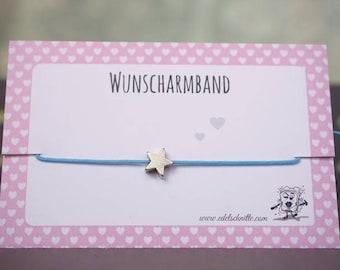 Wish bracelet * STAR * Silver