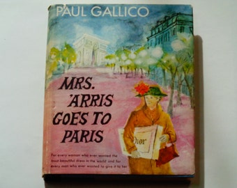 Paul Gallico - Mrs. Arris Goes to Paris - Gioia Fiammenghi - Doubleday First Edition 1958 - Antique Hardcover Illustrated Children's Book