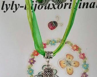 "Set of ""Easter"" bird nest and her earrings ;)"