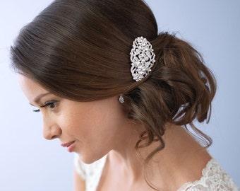 Vintage Rhinestone Bridal Comb, Vintage Bridal Wedding Comb,Rhinestone Bridal Comb, Art Deco Bridal Comb, Antique Wedding Hair Comb ~TC-2280
